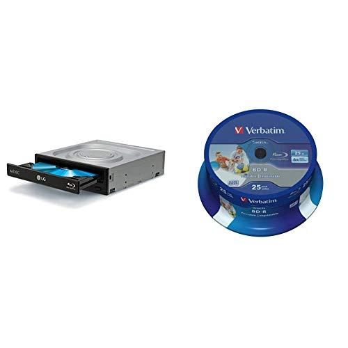 LG BH16NS55 16x2x12xBDRW 16x12x16xDVD+RW 16x6xDVD-RW 8xDVD+/-R DL Blu-ray SATA Bulk Black M-Disk & Verbatim 43811 25 GB 6 x BD-R SL Datalife Tintenstrahldrucker - 25 Pack Spindel