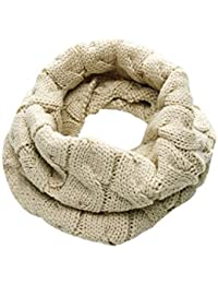 sourcingmap Men Knitting Winter Warmer Casual Thick Tube Scarf