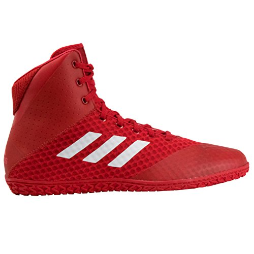 Adidas Tapis Wizard 4 Rouge Blanc Wrestling Chaussures (Ac6972) - Rouge - Red, 47 EU (M)