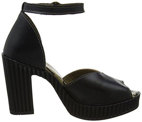 FLY London Gami906, Escarpins Femme Noir (Black/Grey/Camel 000)