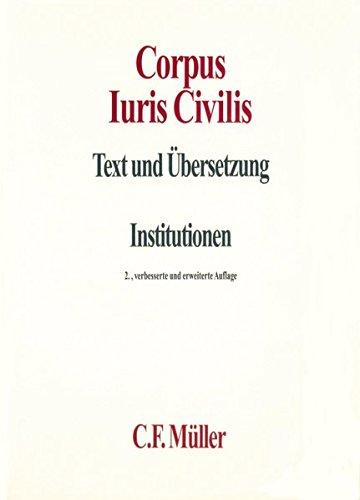 Corpus Iuris Civilis I: Institutionen