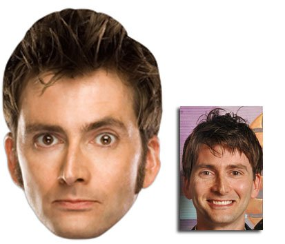David Tennant Doctor Who Karte Partei Gesichtsmasken (Maske) (The Tenth Doctor) - Enthält 6X4 (15X10Cm) starfoto