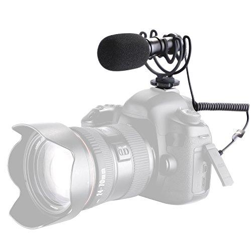 Neewer Mikro Kamera Video Schrotflinte Kondensator Mikrofon: Niere Metall Mikrofon mit Schock Montage für Canon, Nikon, Sony A7RII, A7, Panasonic GH5 GH4 GoPro Kameras, iPhone 7 7Plus, Samsung Smartphones (NW-VM10)