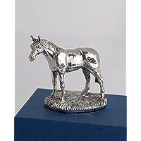 Silver Basket - Miniatura decorativa di cavallo, in argento sterling, idea regalo per appassionati di cavalli, pezzo da collezione, argento marchiato Prodotta in Inghilterra.