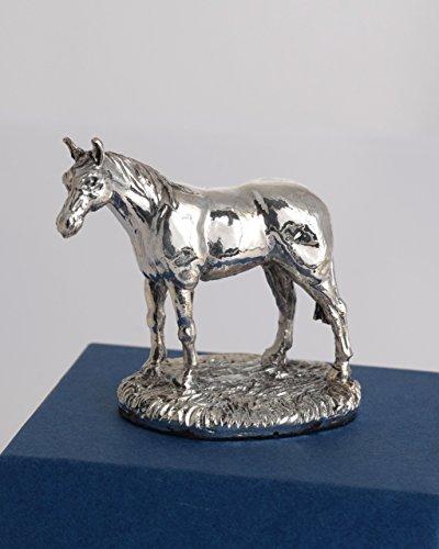 Plata de Ley figura de caballo en miniatura. Regalo para caballo amante. Coleccionable de plateado. Sello. Fabricado en Inglaterra
