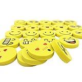 Ametsus–32x Gommes, emoji Smiley gommes, Fantaisie Funny Faces emoji gommes aléatoire pour l'école, enfants Fun Prix, dragées, Sac d'anniversaire Cadeau jouet pour enfant, etc.