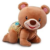 VTech Osito gateos, oso peluche interactivo, suave animal gateador que estimula la curiosidad del bebé y anima a seguir imitándolo, color marrón (3480-181122)