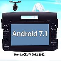 EinCar Android 7.1 Car Autoradio Stereo 2 Din In Dash GPS Navigation Radio Bluetooth Head Unit Special for Honda CRV-V 2012 2013 Support Phone Mirroring Car DVD Player 1080P Video Camera Input