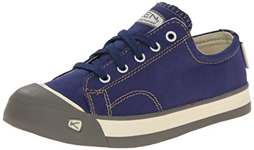 KEEN Coronado Lace Kinder Schuhe Veganer Jungen Teen Sneaker Halbschuhe Canvas, Schuhgröße:37;Farbe:blau