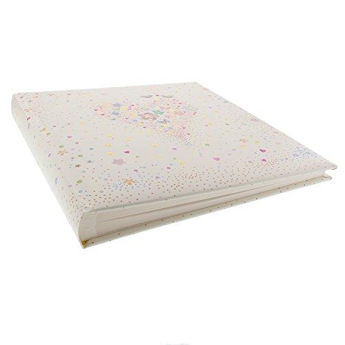 Goldbuch Hochzeitsalbum, 30x31 cm, 60 Seiten mit Pergamin, Happily Heart, Kunstdruckpapier mit Goldprägung und Relief, 08276