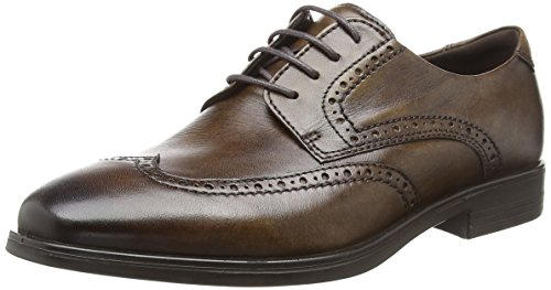ECCO Herren Melbourne Derbys, Braun (Cocoa Brown 1482), 45 EU Ecco Business Comfort