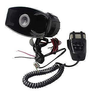 GAMPRO Auto Sirene Lautsprecher, 12 V 80 Watt 7 Ton Sound Auto Sirene Fahrzeug Horn Mit Mikrofon PA Lautsprechersystem Notfall Sound-verstärker