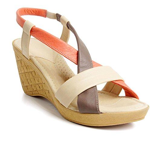 Batz California Sandales Chaussure en Cuir de Qualité Supérieure Femme Eté