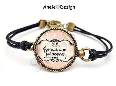 Bracelet Rose, bracelet Princesse, bracelet cabochon