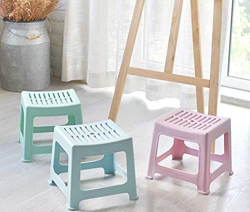 CWJ Praktische Stuhl Kunststoff Stapelhocker, Rutschfeste Badezimmer-Hocker, Kinder Tritthocker, Home Schuhhocker, Mode Hocker für Wohnzimmer kreative Hocker,Blau