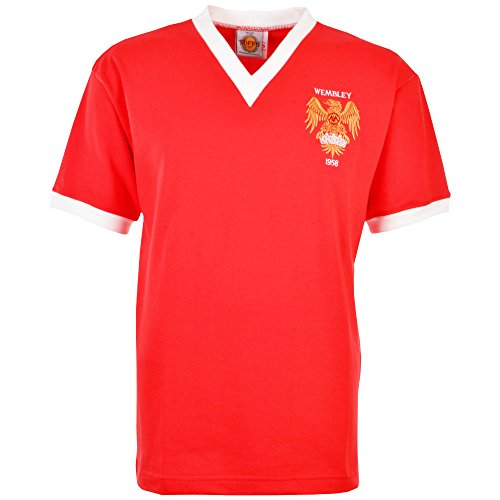 TOFFS Manchester United 1958 FA Cup Final Retro Football Shirt (XX LARGE)