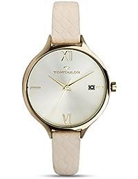 Tom Tailor Mujer Reloj Cuarzo Piel Beige Fecha 5416003