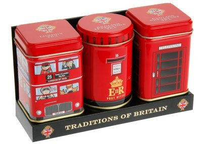 Englisch Tee, Traditions of Britain-English Tea in Mini-Dosen, Gift Pack-MT15