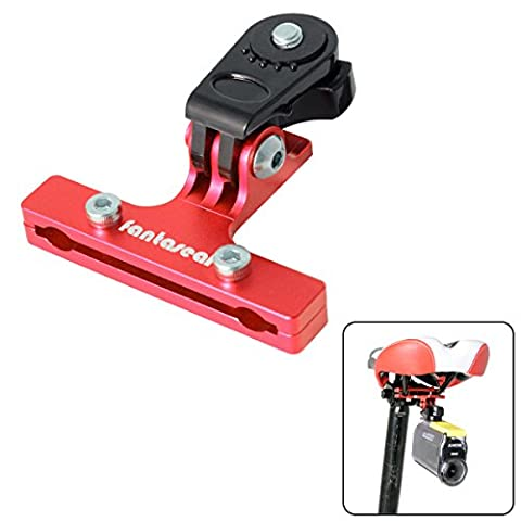 Fantaseal® Vélo Support Vélo Selle Support Bicyclette Support Bike Mount Aluminum Selle Adaptateur Vélo Mount Bicyclette Mount Bicyclette Selle Clip Bicyclette Adapter Bike Mount pour Sony Bicyclette Selle Support Sony Bicyclette Mount Bike Accessories Sony Action Caméra Bicyclette Support Sports Caméra Bike Mount pour SONY HDR AS-10 AS-15 AS-20 AS-30 AS-50 AS-100 AS-200 AZ-1 FDR X1000VR etc- Rouge
