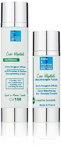 Veana Cure Vegetale Anti Rosacea Strengthening Cream plus Serum, Rosacea, 1 set (2 pcs)
