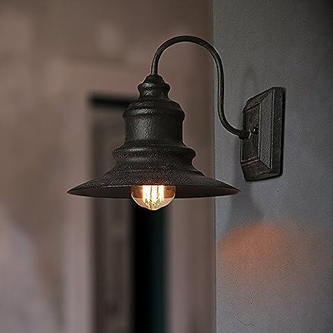 All'Americana GaoHX Lampada da parete per illuminazione di esterni retrò