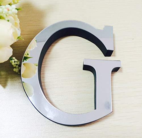 piegel Wandaufkleber Alphabet Home Decor Logo Für Wand Home Dekoration Acryl Brief (Single-Paket) Kann Frei Zu Buchstabieren, Wählen Sie Den Brief Des Buchstaben 26 Buchstaben-G ()