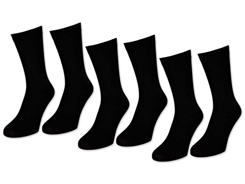6 | 12 | 24 Paar Herrensocken Business Herren Socken Baumwolle Schwarz (43-46, 6 Paar | Schwarz)