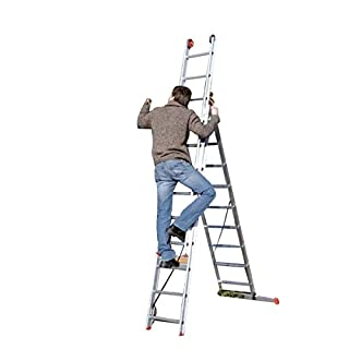 Altrex 0000440Combination Aluminium Ladder, Manual, All Round, Number of Steps: 2x 12