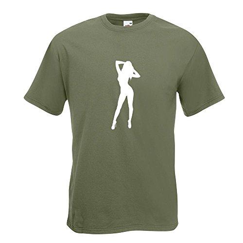 KIWISTAR - Sexy Girl T-Shirt in 15 verschiedenen Farben - Herren Funshirt bedruckt Design Sprüche Spruch Motive Oberteil Baumwolle Print Größe S M L XL XXL Olive