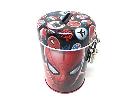 Theonoi Marvel Spiderman Kinder - Spardose / Sparbuchse / Schatzkiste / Sparschwein Dose / Box aus Metall - Geschenk für Jungen (Spiderman A02 )