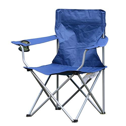 ZSLLO Campingstuhl Oxford Tuch Falten Outdoor Freizeit Stuhl Rutschfeste Durable Camping Stuhl tragbare handlauf strandstuhl Camping Angeln Freizeit hocker waschbar mit becherhalter Klappstuhl