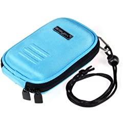 Easypix Pop-Box Pochette en nylon pour Appareil photo et portable Bleu