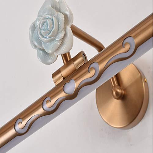Keramik Rose/LED Kosmetikspiegel Licht, American/Bad Lampe/Spiegel Schrank Licht/Wandleuchte/Leuchte/for Badezimmer Schlafzimmer (Color : Neutral light 4000k-64cm/14w) -