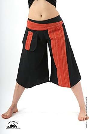 Pantalon ethnique jupe culotte orange - Orange | Taille Unique de 36 a 44