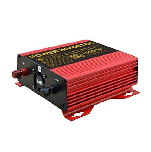Solar Power Inverter DC 12V auf 220V AC PV Auto Konverter mit Zigarettenanzünder Adapter 1000W Wechselrichter (rot) (Jump Starter-pumpe)
