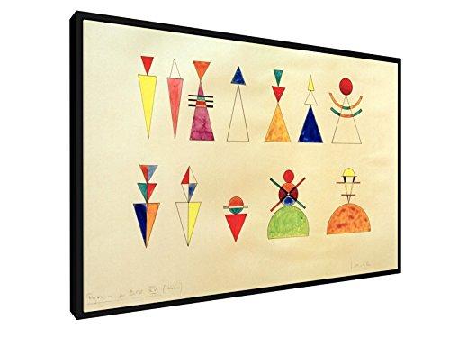Wassily Kandinsky - Bilder einer Ausstellung, Zahlen, Bild XVI - 60x40 cm - Leinwandbild mit Schattenfugenrahmen - Alte Meister / Museum