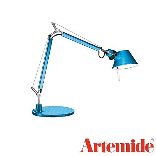 Artemide Tolomeo Micro LED Lampe de table turquoise anodisé