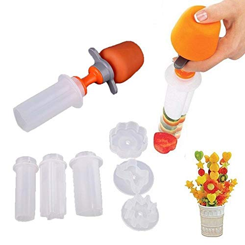 techformen Kreative Kunststoff Obst Form Cutter 6 Shape Convenient Kitchen Tool Festival Spiel Decorator Cutter ()