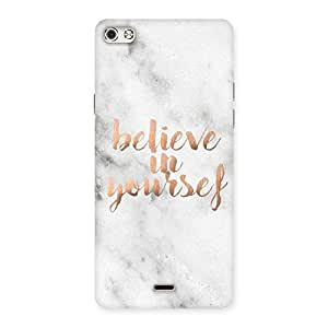 Belive in Yourself Printed Back Case Cover for Micromax Canvas Silver 5