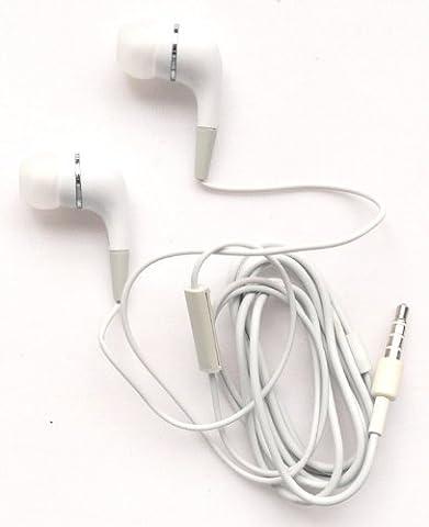 Emartbuy® Blanc Écouteurs Intra-Auriculaires avec Kit Mains Libres et Micro Intégré Adapté Pour Lenovo Vibe P1m / Lenovo Vibe P1 Smartphone