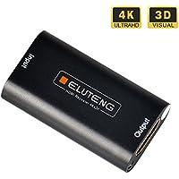 ELUTENG Adaptador HDMI Hembra al Alargador 4K Amplificador 3D 1080P Repetida HDCP 1.4 de la Conexión HDTV Hasta 40m para PS4 Xbox PC Monitor