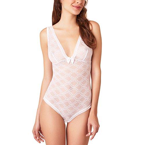 Passionata Damen Body Let's Play, Gr. 40 (Herstellergröße: M), Weiß (Weiß 10)