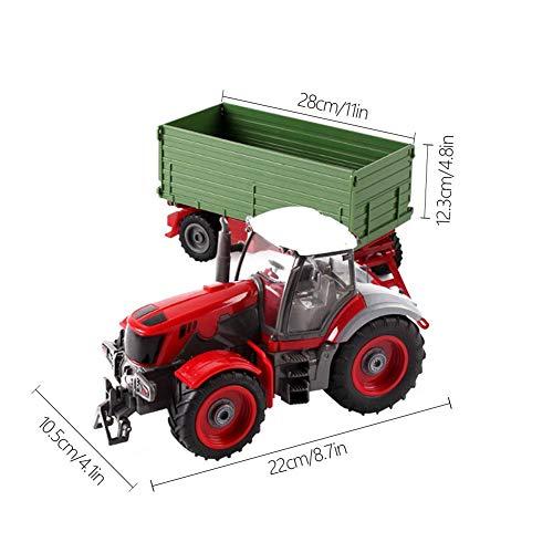 RC Auto kaufen Traktor Bild 2: 332PageAnn Rc Ferngesteuerter Traktor Spielzeug Mit Anhänger - 6 Kanal 1:28 Simulationsfahrzeug Geburtstagsgeschenk Für Kinder*