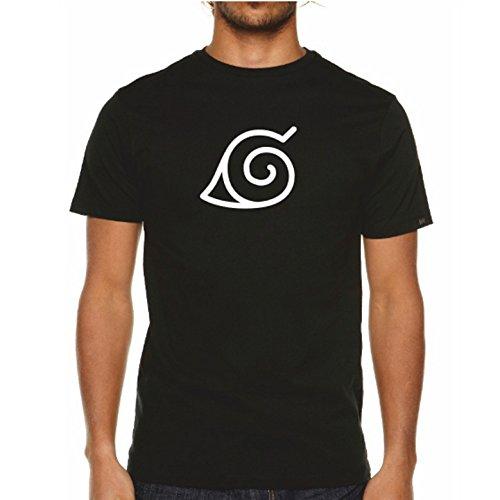 Para hombre camiseta de Konoha Leaf Negro
