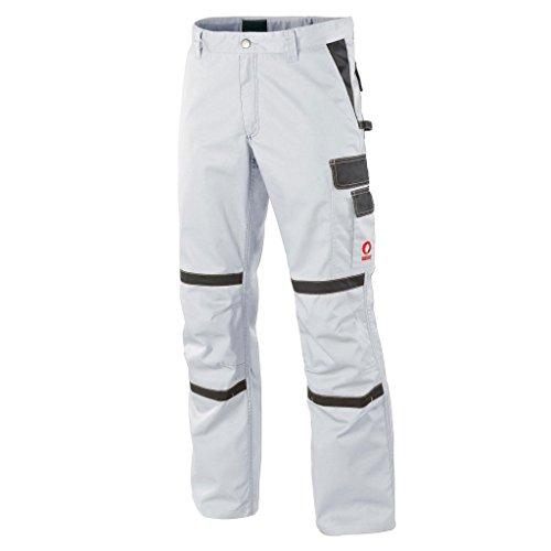 Krähe Arbeitshose Profession Pro Herren – Angenehm & strapazierfähig, 8 Taschen, Vorgeformte Kniepolstertaschen in Weiß Größe 48