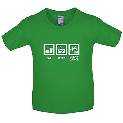 Eat Sleep Breakdance - T-Shirt Enfant - Vert - S