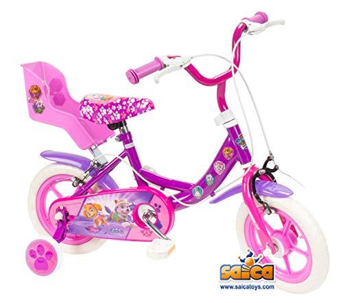 """PAW PATROL - Bicicleta 12"""" Rueda EVA (Saica 2200)"""