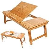 Sobuy fbt04 n table de lit pliable pour pc portable - Table de lit avec plateau inclinable pour ordinateur portable ...
