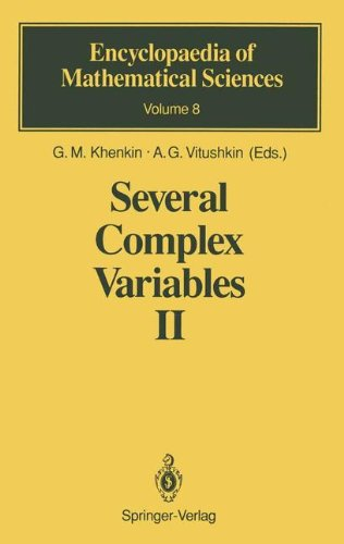 Several Complex Variables II (Encyclopaedia of Mathematical Sciences, Band 8)