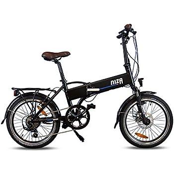 Urbanbiker - Bicicleta Eléctrica Plegable Con Batería Integrada En El Cuadro, Modelo Niza En Negro